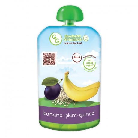 Organic Banana, Plum & Quinoa Puree