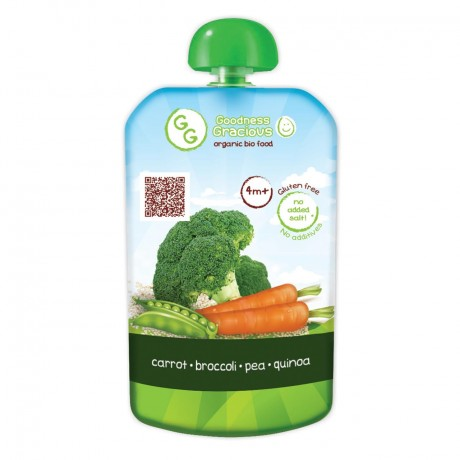 Organic Carrot, Broccoli & Quinoa Puree