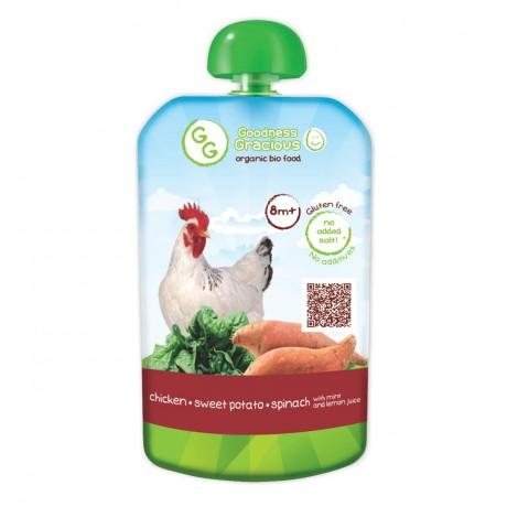 Organic Chicken, Sweet Potato & Spinach Puree