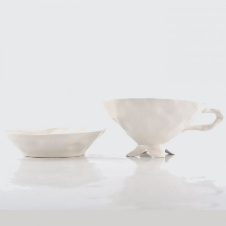 Plain White Cup and Saucer