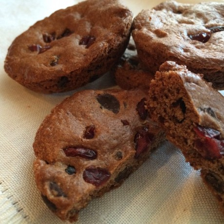 Paleo Cranberry & Chocolate Chip Cookies
