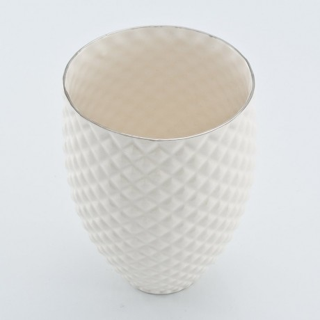 White Pineapple Mug with Platinum Rim