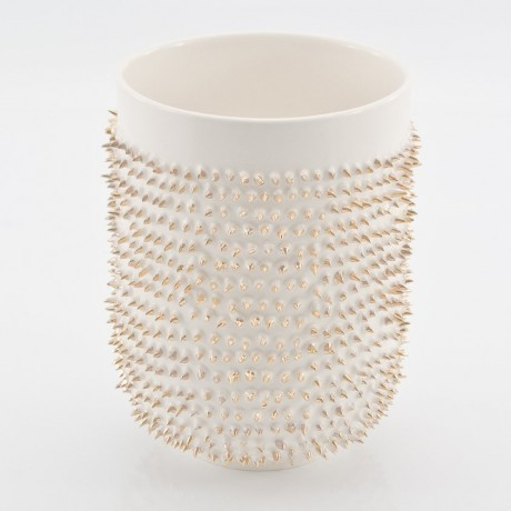 White mug with Golden Spikes