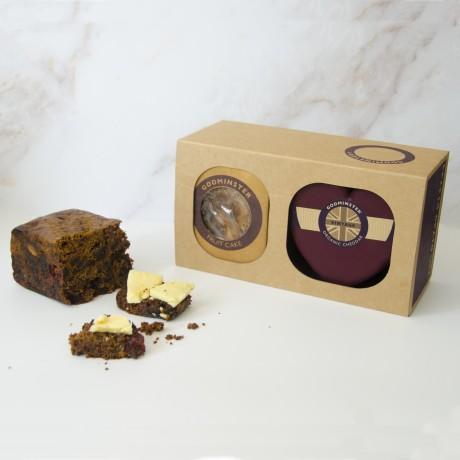 Heart-Shaped Cheddar & Fruit Cake Gift Set