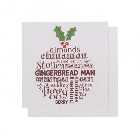 christmas pudding fun card
