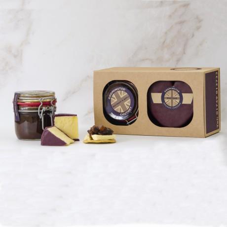 Heart-Shaped Cheese & Chutney Gift Set