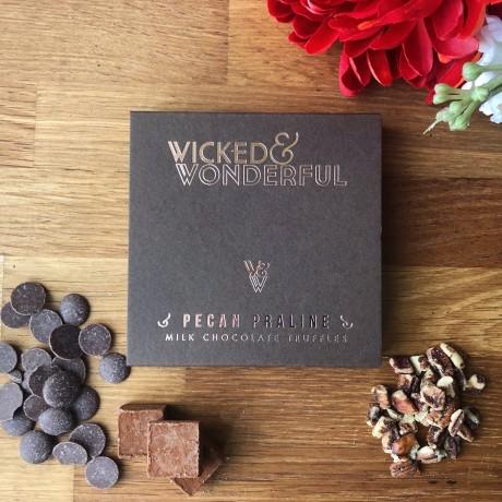 Pecan Praline Milk Chocolate Truffles