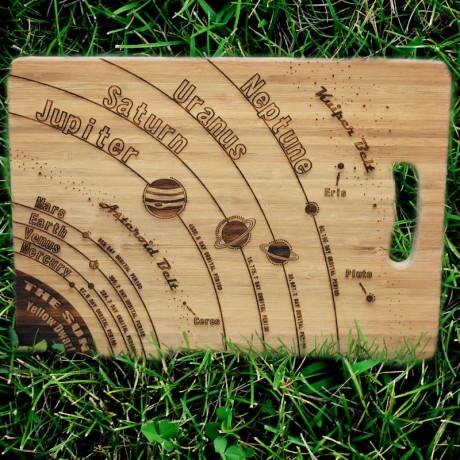 Solar System Engraved Chopping Board