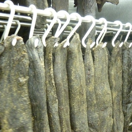 Air drying Biltong sticks