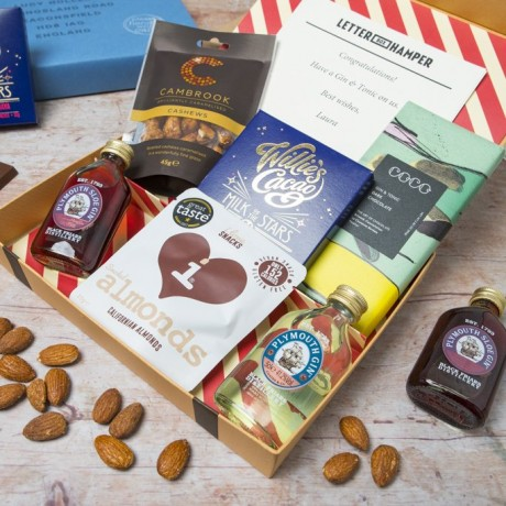 Gin Lovers Letter Box Hamper - with Plymouth Gin