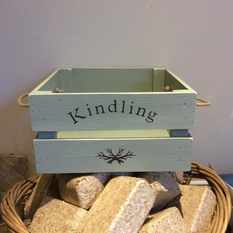 Kindling crate in willow green