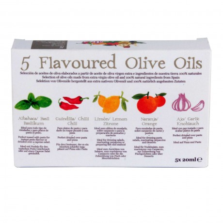 AZADA SET OF FLAVOURED OILVE OILS 5 X 20ML