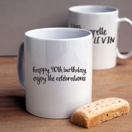 Je ne regrette le vin mug - personalisation
