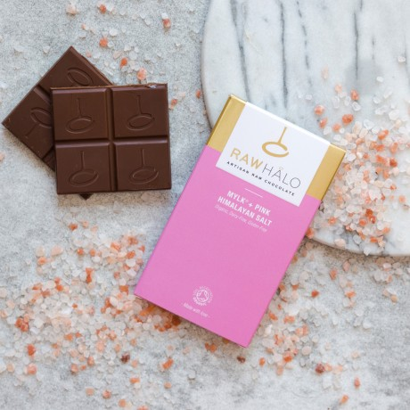 Raw Chocolate Mylk + Pink Himalayan Salt Bars (3 pack)