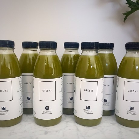 7 bottles of cold-pressed organic juices