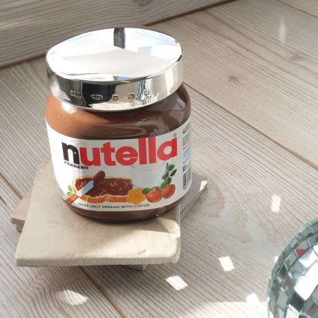 Engraved Silver Nutella Lid