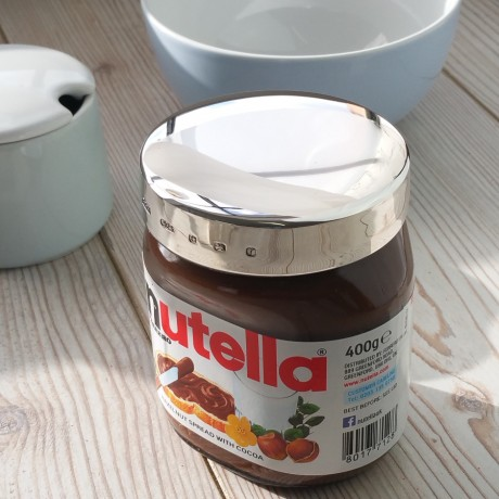 Personalised Silver Nutella Lid
