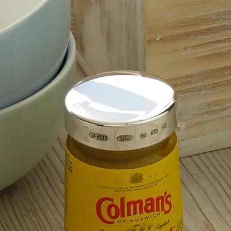 Personalised Silver Mustard Jar Lid