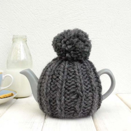 Charcoal Grey 2 Cup Tea Cosy