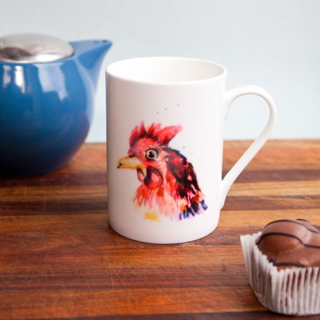 Inky Chicken Fine Bone China Mug