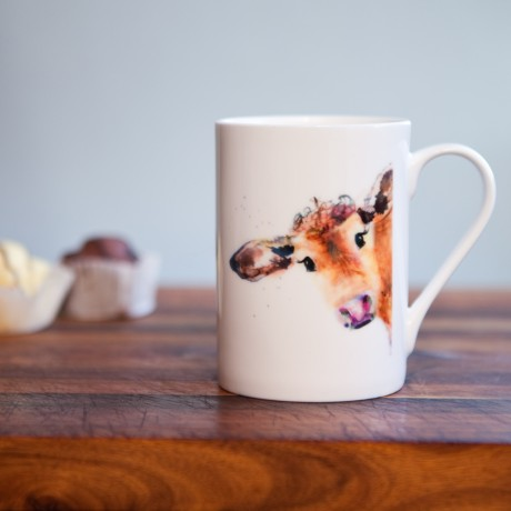 Inky Cow Fine Bone China Mug