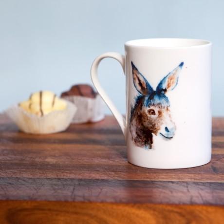 Inky Donkey Fine Bone China Mug