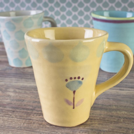 Hand painted Florence design mug
