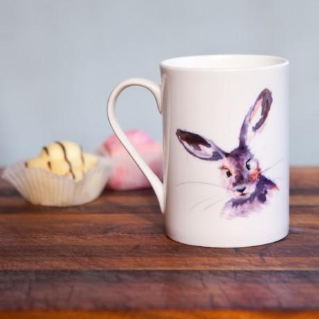 Inky Hare Fine Bone China Mug