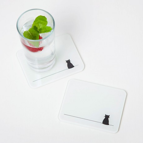 Sitting Cat Coasters