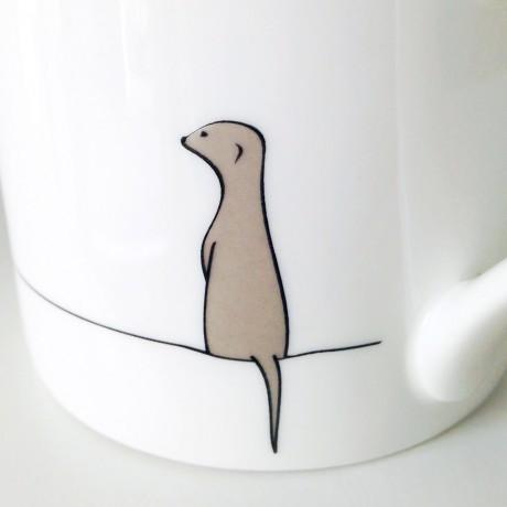 Meerkat Mug Closeup