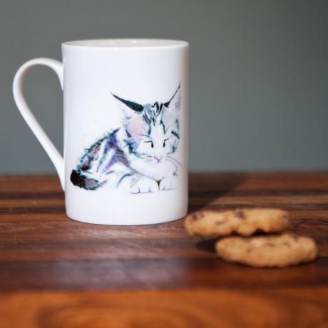 Inky Kitten Fine Bone China Mug