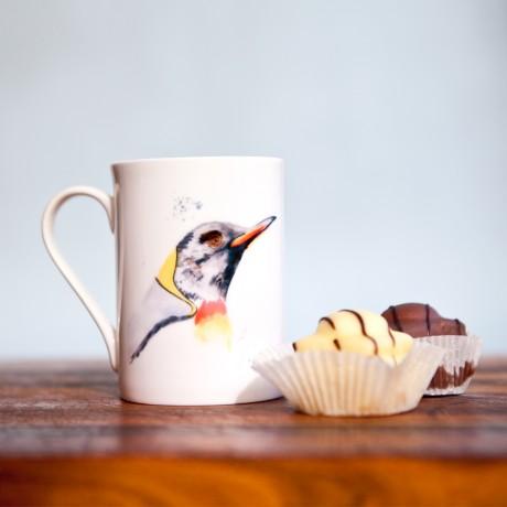 Inky Penguin Fine Bone China Mug