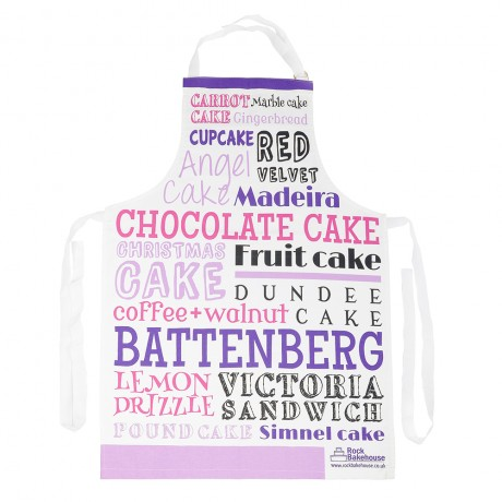 Pink Purple Cake Typography Apron