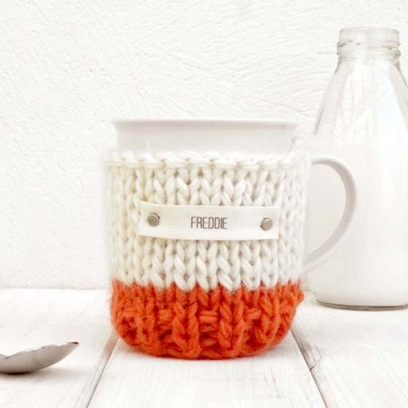 Rust Personalised Colour Block Mug Cosy