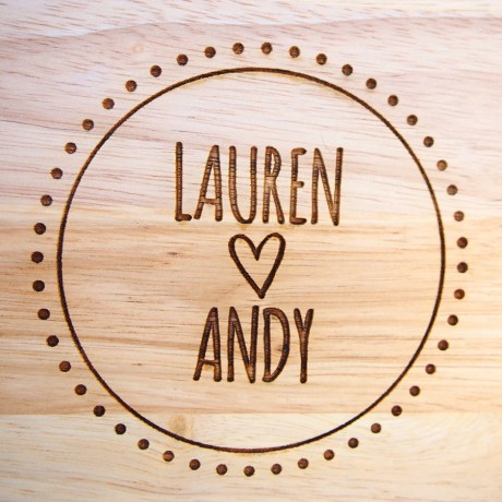 Couple's Personalised Wood Chopping Board