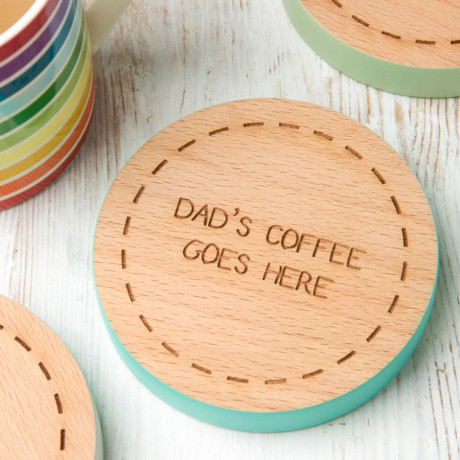 Personalised Coloured Edge Coaster