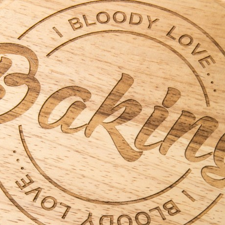 'I Bloody Love Baking' Chopping Board