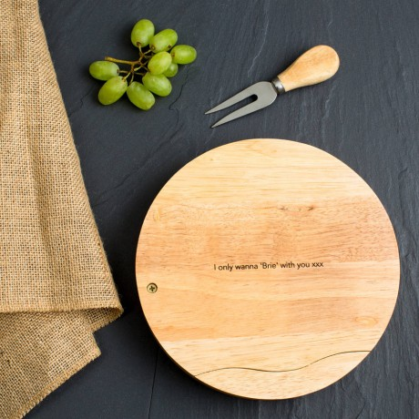 Personalised Hipster Engraved Cheese Board Set