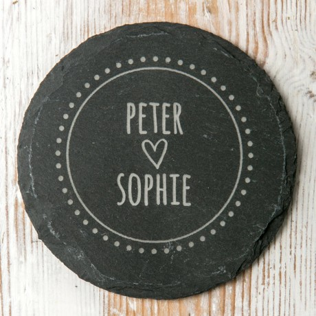 Couple's Personalised Pair of Slate Coasters