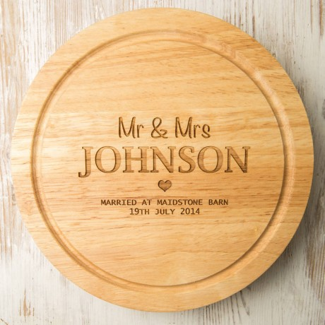 Personalised Name and Place Cheese Board