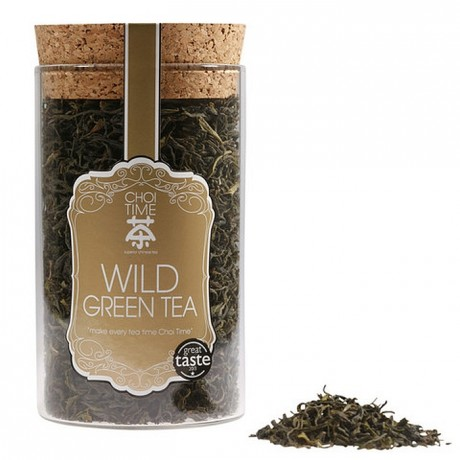 Wild Green Tea (Elegant Glass Canister)