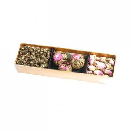 Jasmine Green Tea Pearls, thousand year red flowers & damask rose buds