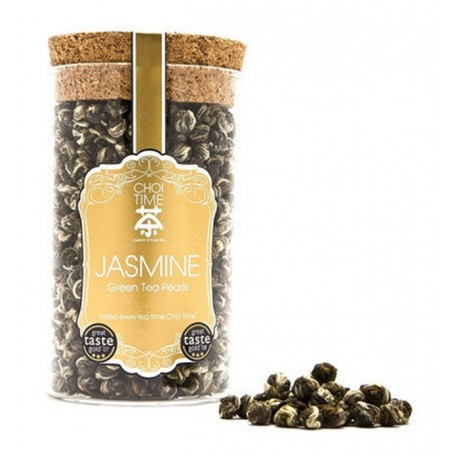 Jasmine Green Tea Pearls (Elegant Glass Canister)
