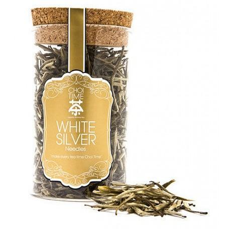 White Silver Needles Tea (Elegant Glass Canister)