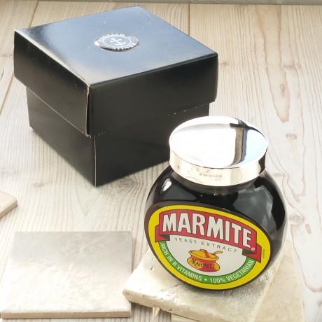 Personalised Silver Marmite 500g jar lid