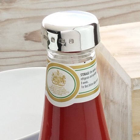 Silver Heinz Tomato Ketchup Lid