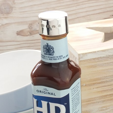 Silver HP Brown Sauce Lid