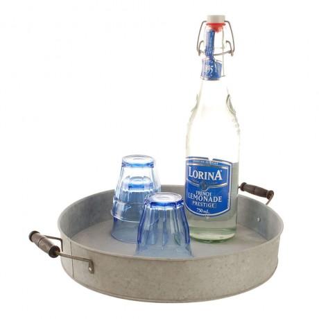 round zinc tray