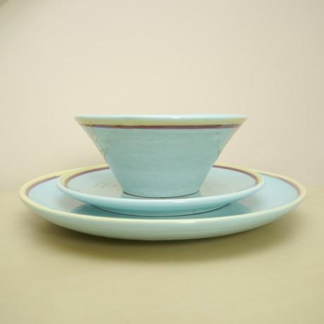 Amalfi dinner plate, side plate & bowl