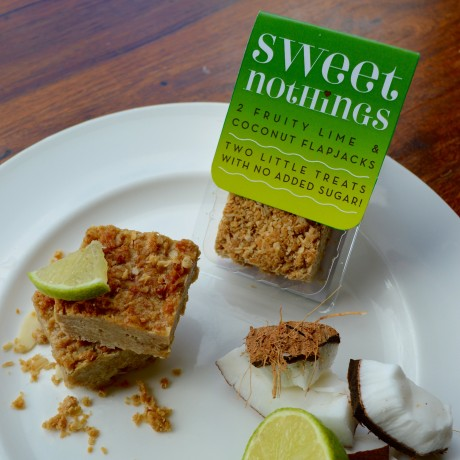 Fruity Lime and Coconut Flapjack Bites Free From